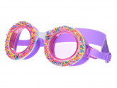 Bling2o Do Nuts '4' U Swim Goggles (Little Kids/Big Kids) (Grape Jelly) Water Goggles