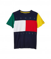 Tommy Hilfiger Adaptive Sensory Flag T-Shirt (Little Kids/Big Kids) (Peacoat) Men's Clothing