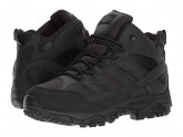 Merrell Work Moab 2 Mid Tactical Waterproof (Black) Men's Lace-up Boots