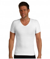 Spanx for Men Zoned Performance Compression V-Neck (White) Men's Underwear