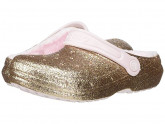 Crocs Kids Classic Glitter Lined Clog (Toddler/Little Kid) (Gold/Barely Pink) Girl's Shoes