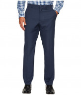 Perry Ellis Portfolio Windowpane Performance Portfolio Pant (Mood Indigo) Men's Dress Pants