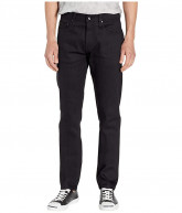 The Unbranded Brand Tapered in 11 oz Solid Black Stretch Selvedge (11 oz Black Stretch Selvedge) Men's Jeans
