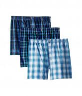 Jockey Classic Wovens Full Cut Boxer 3-Pack (Soft Plaid/Varigated Plaid/Huge Check) Men's Underwear