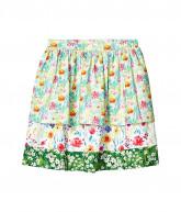 e Ispirante - Creative Adaptive Clothing Melissa Wheelchair Friendly Gathered Skirt (Little Kids/Big Kids) (Floral Multi) Women's Skirt