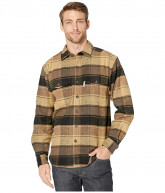 Wolverine Heritage Blake Flannel Shirt (Brown Plaid) Men's Clothing