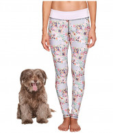 Puppies Make Me Happy Pawesome Blossom Leggings (Multi) Women's Casual Pants