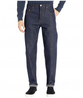 The Unbranded Brand Relax Tapered Fit - 21 oz Heavyweight Indigo Selvedge (Indigo) Men's Jeans